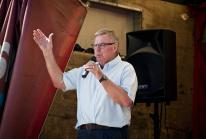 MC for the afternoon, councillor John Pollard